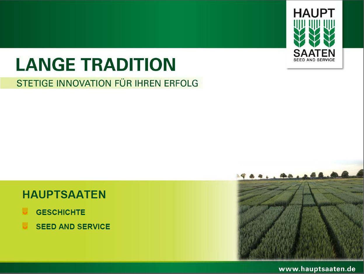 Hauptsaaten - Seed and Service